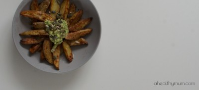Healthy Homemade Wedges and Dip