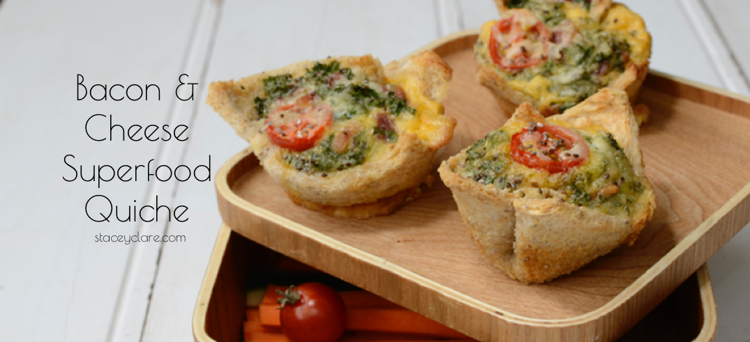 Bacon & Cheese Superfood Quiche