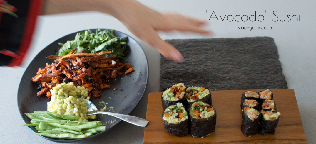 Avocado and Brown Rice Sushi Roll